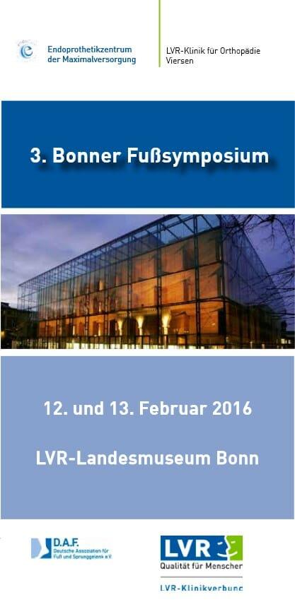 Programm 3. Bonner Fußsymposium