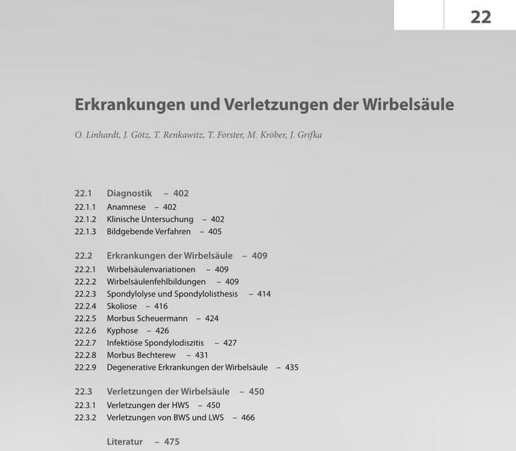 Prof. Linhardt Facharztbuchbereich 2018