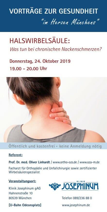 Prof. Linhardt OZA Vortrag Halswirbelsäule Nackenschmerzen 10-2019