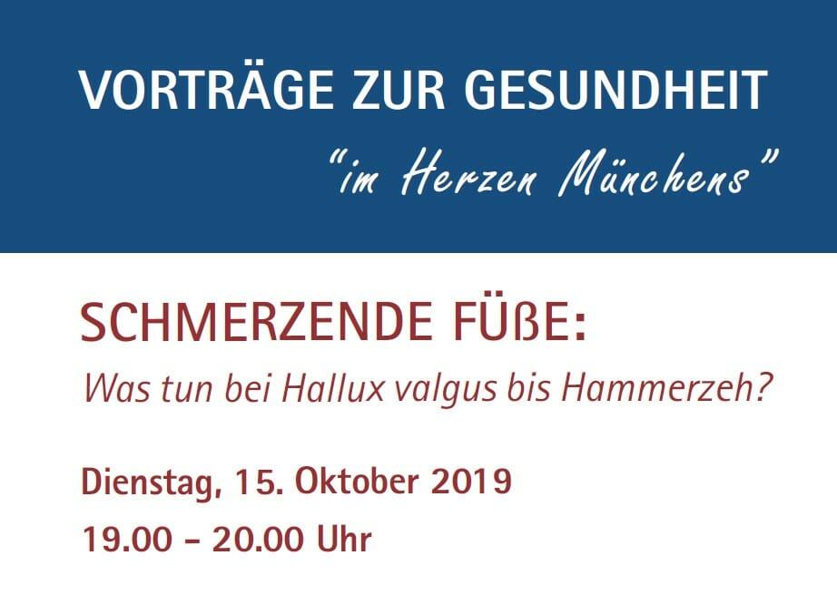 Dr. Fröhlich OZA Vortrag Josephinum Hallux valgus Hammerzehen 10-2019