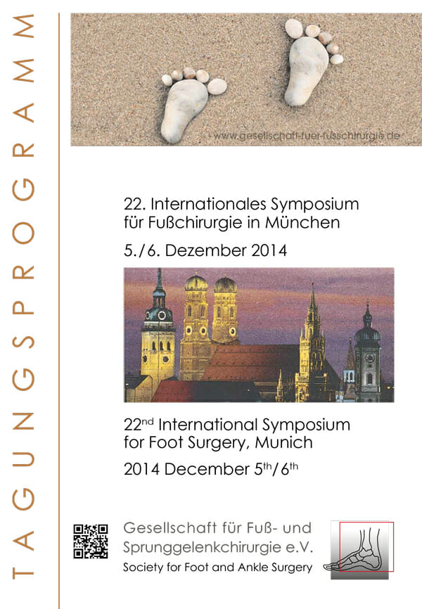 Programm 22. Internationales Symposium für Fußchirurgie