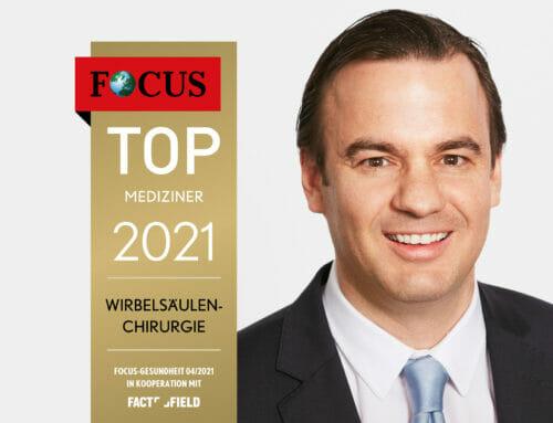 Focus: Prof. Dr. Linhardt zählt zu den Top-Medizinern 2021 Deutschlands