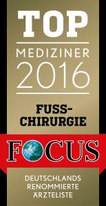 TOP Mediziner 2016 - Fusschirurgie