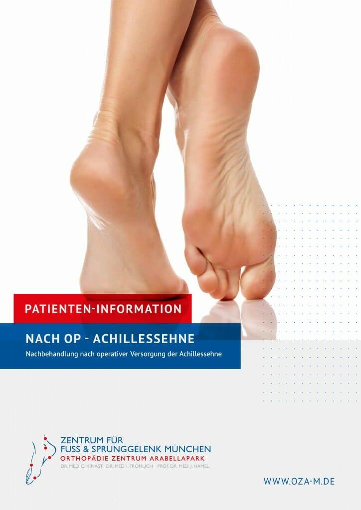 """Patienten-Broschüre """"Nach OP Achillessehne"""""""