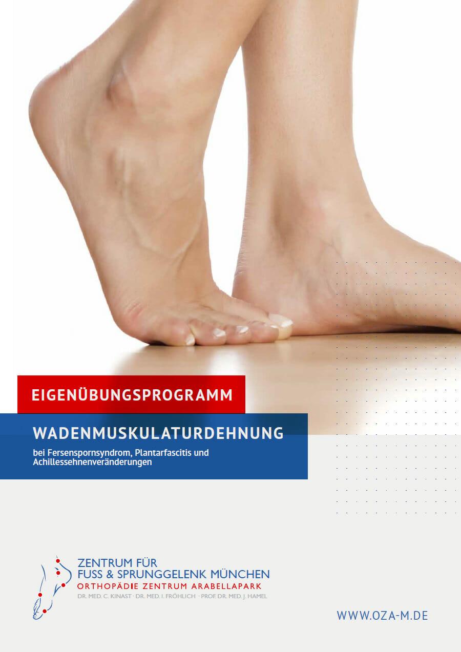 Patienten-Broschüre Übung Wadenmuskulaturdehnung
