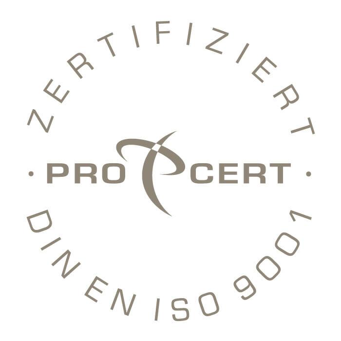 OZA DIN EN ISO 9001 - PRO CERT – Zertifikat Dr. Jürgen Landshuter